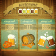 Pub Beer Menu — Stock Vector