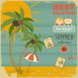 Royalty-Free Stock Vector Image: Vacation Card in retro Style