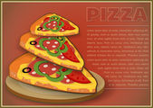 Pizza Slices — Stock Vector