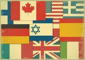 Flag Retro Background — Stock Vector