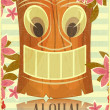 Vintage Hawaiian Tiki postcard — Stock Vector #20037395