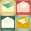 Set of Email Concept — Stock Vector