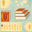 Book Infographics Elements — Imagen vectorial