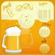 Square Retro Design Beer Menu - Stock Vector