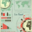 Infographics Eco Planet Earth and Construction - Stock Vector