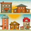 Cartoon Houses Set — Stock Vector
