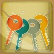 Set of House Keys — Vector de stock