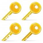 Set of Gold Keys — Stock Vector