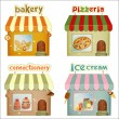 Set of Cartoon Shops - Image vectorielle