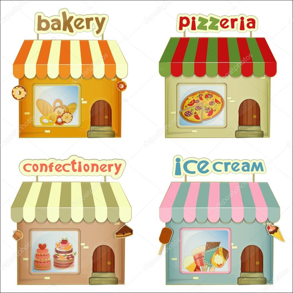 Cartoon Bakery Buildin...