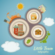 Little Town Infographics - Stock Vector
