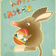 Royalty-Free Stock Vector Image: Retro Vintage Card with Easter Australian Bilby