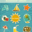 Summer Icons — Stock Vector