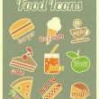 Set of Food Icons — Stock Vector #22547795