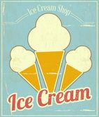 Vanilyalı dondurma kartı — Stok Vektör