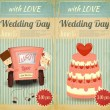 Set of Wedding Invitation — Stockvektor