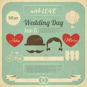 Invitation de mariage — Vecteur