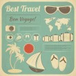 Summer Travel Card in retro Style - Stock Vector