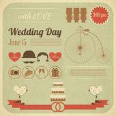 Infographie carte de mariage fête invitation — Vecteur