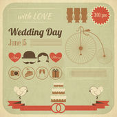Wedding Day Invitation Infographics Card — Stock Vector