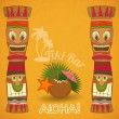 Vintage Hawaiian Tiki bar - Stock Vector