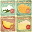 Stock Vector: Vintage Set of Cheese Labels