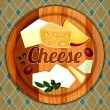 Stock Vector: Cheese Plate