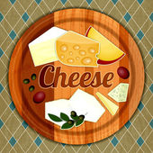 Cheese Plate — Stock Vector