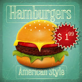 Hamburgers Menu — Stock Vector
