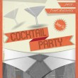 Cocktail Party — Imagen vectorial