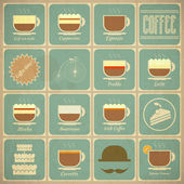 Coffee Labels Set — Stock Vector