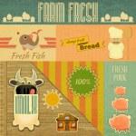 Farm Fresh Organic Products — Stock Vector