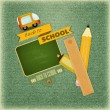Back to School Retro Card — Stock Vector #28426337