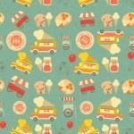 Ice Cream Retro Background — Stock Vector