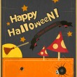 Halloween Vintage card — Stock Vector