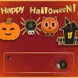 Carta di Halloween — Vettoriali Stock