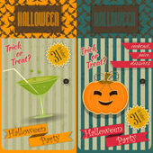 Halloween Party Invitation — Vettoriale Stock