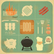 Barbecue Menu BBQ — Stock Vector