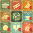 Set of Retro Food Labels — Stock Vector