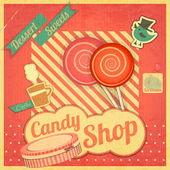 Candy Sweet Shop — Stock Vector