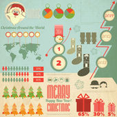 Vintage Christmas Infographic with Santa Claus — Vetorial Stock