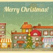Christmas town — Vector de stock