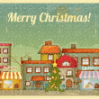 Vector de stock : Christmas town