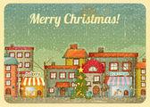 Christmas town — Stock Vector