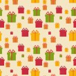 Gift Seamless Background — Stockvektor