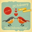 Vintage Valentines Day Card — Stockvectorbeeld