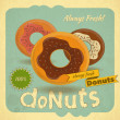 Donuts on vintage background — Stock Vector #36852259