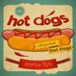 hot dogs — Stock Vector