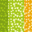 St.Patrick's Day Seamless Backgrounds Set — Stock Vector