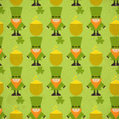 St.Patrick's Day Seamless Background — Stock Vector